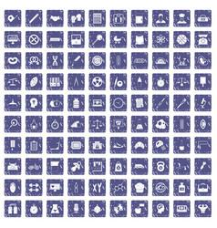 100 libra icons set grunge sapphire vector