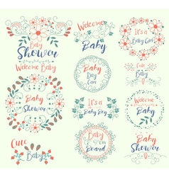 Baby ShowerCuteWelcomeIt s a Girl On Board vector image