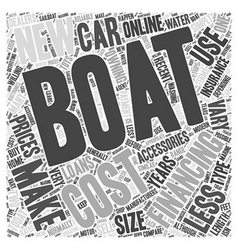 Costs of owning a boat word cloud concept vector
