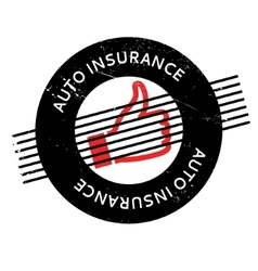 Auto insurance rubber stamp vector