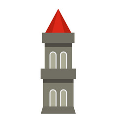 Medieval battle tower icon isolated vector