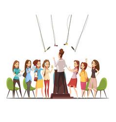 teenage girls retro cartoon vector image