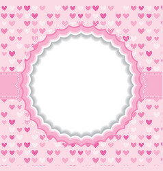Blank frame with heart background vector