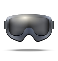 Classic snowboarding goggles vector