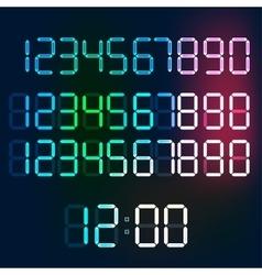 Digital numerals vector