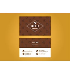 Coffee house business card design vector