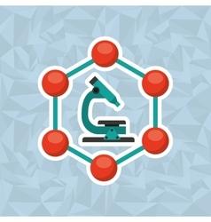 Scientific laboratory design vector