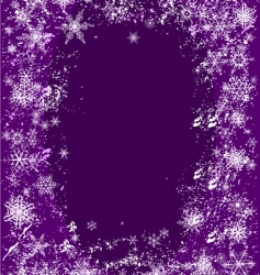 snowflake splash vector image