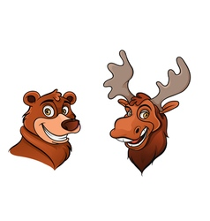 bear and moose vector image