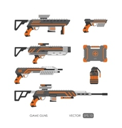 Guns for virtual reality system vector image