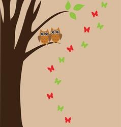 bird owl vector image vector image