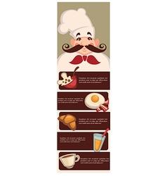 Breakfast menu vector