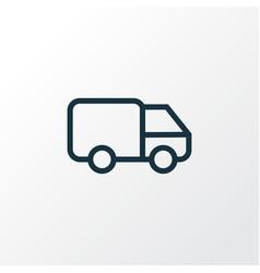 Caravan outline symbol premium quality isolated vector