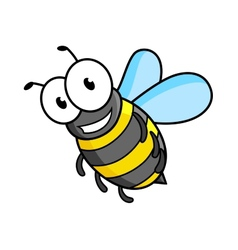 Cartoon bee or wasp character vector image vector image