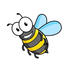 Cartoon bee or wasp character vector