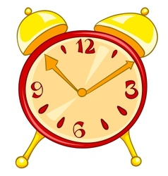 cartoon home clock vector image