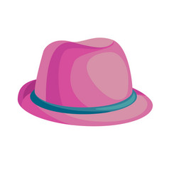 cartoon pink hat vector image vector image