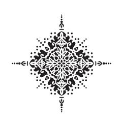 Circular pattern islamic ethnic ornament for vector