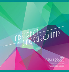 Colorful abstract polygonal triangle background vector