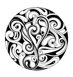 Decorative circle ornament vector