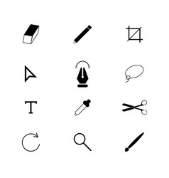 Designer tools set icons vector