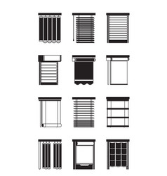 Different interior blinds vector