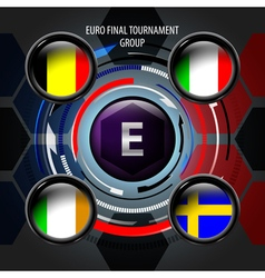European flag buttons e vector