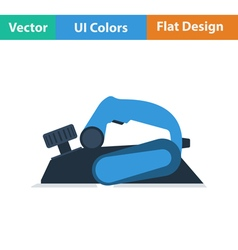 Flat design icon of electric planer vector