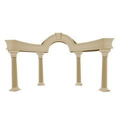 Greek arch column vector