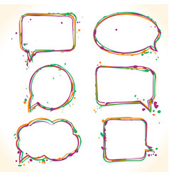 hand drawn colorful bubble speech vector image