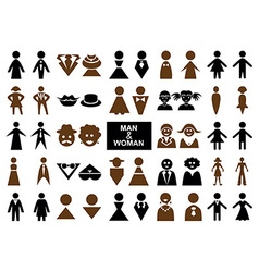 Icons man and woman vector