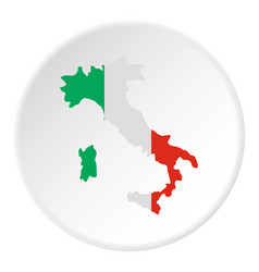 italy map icon circle vector image