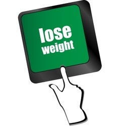 Lose weight on keyboard key button vector image