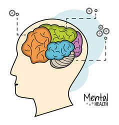 Mental health brain function image vector