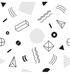 Monochrome seamless abstract geomertic pattern - vector