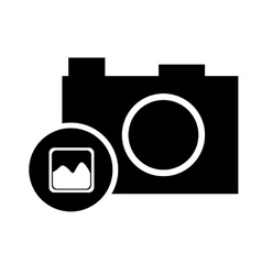 Pictogram photo camera picture image vector