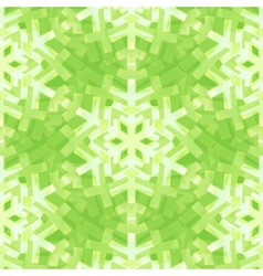 Shiny Green Snowflakes Seamless Pattern for vector image vector image