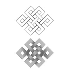 Silver endless knots vector