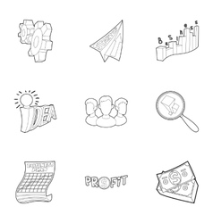 Startup icons set outline style vector image vector image