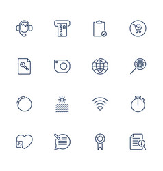 thin lines web icons set line icons web icons vector image vector image