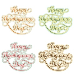 Vintage happy thanksgivings day eps 10 vector
