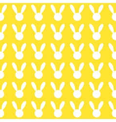 White Rabbit Yellow Background vector image vector image
