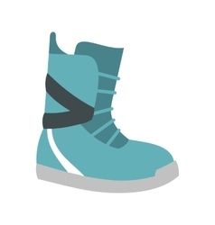 Winter snow boot icon flat style vector