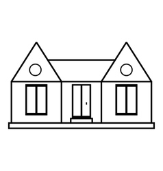 Private house icon outline style vector