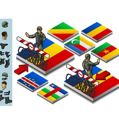 Isometric representation of Frontier militarily vector image