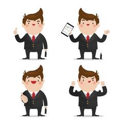 businessman set 1 vector image
