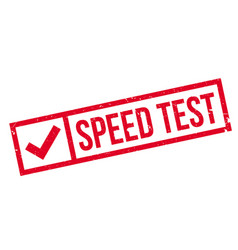 Speed test rubber stamp vector