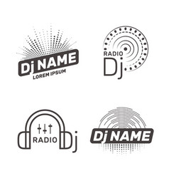 Dj label vector