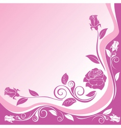 Background with ornaments of roses vector
