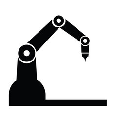 industry robot icons vector image
